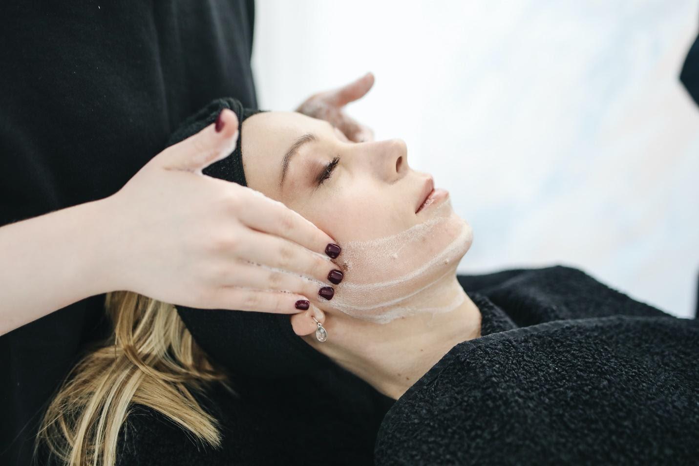 woman getting chemical peel, Dallas